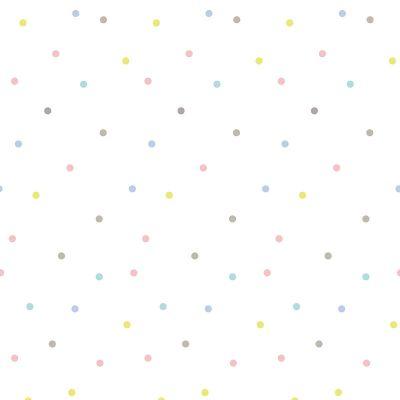 Papier peint pois multicolores by Aless Baylis