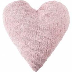 Coussin coeur rose (45 x 50 cm)