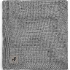 Couverture bébé en coton Bliss knit storm grey gris (75 x 100 cm)