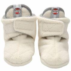 Chaussons bébé Slipper Scandinavian Off White (12-18 mois)