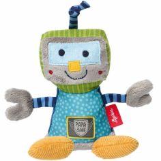 Peluche hochet robot Papa & me (16 cm)