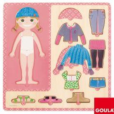 Puzzle Petite fille s'habille (10 pièces)