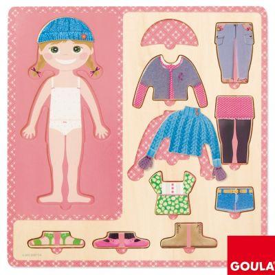 Puzzle Petite fille s'habille (10 pièces) Goula