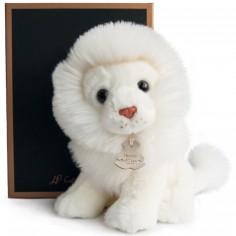Peluche lion blanc Les authentiques (20 cm)
