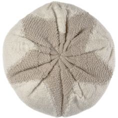 Coussin rond en coton Tribute to Cotton Etoile (25 cm)