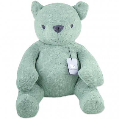 Peluche ourson Cable Uni vert menthe (55 cm) Baby's Only