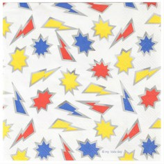Lot de 16 serviettes en papier Superhero Fever