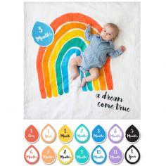 Cartes étapes de bébé + maxi lange A dream come true (7 cartes recto verso)