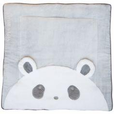 Tapis de jeu Tapidou panda gris (100 x 100 cm)