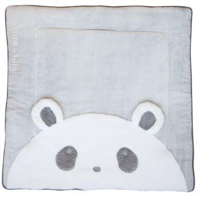 Tapis de jeu Tapidou panda gris (100 x 100 cm) Doudou et Compagnie