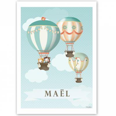Affiche A3 Les jolies montgolfières (personnalisable)  par Kanzilue