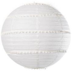 Boule japonaise pompons blanc