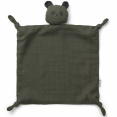 Doudou plat Agnete Panda hunter green
