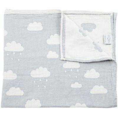 Couverture en coton nuage grise (160 x 90 cm)