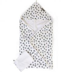Cape de bain + gant Jersey léopard (80 x 80 cm)