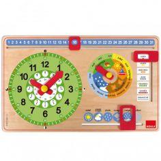 Horloge éducative avec calendrier et météo