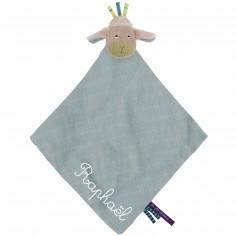 Doudou plat lange mouton personnalisable Les Jolis pas beaux (40 x 40 cm)