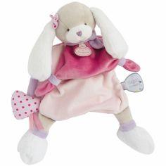 Doudou marionnette Toopi chien rose (28 cm)