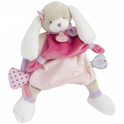 Doudou marionnette Toopi chien rose (28 cm)  par Doudou et Compagnie