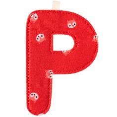 Lettre en tissu à suspendre P (9,5 cm)