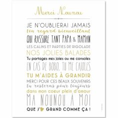 Affiche Merci nounou (40 x 50 cm)