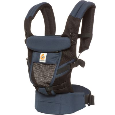 Porte bébé Adapt Cool Air Mesh bleu corbeau Ergobaby