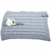 Attache sucette Cable Uni gris - Baby's Only