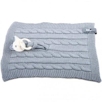 Attache sucette Cable Uni gris  par Baby's Only