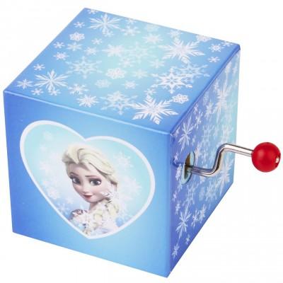 Cube manivelle musical Elsa La Reine des Neiges  par Trousselier