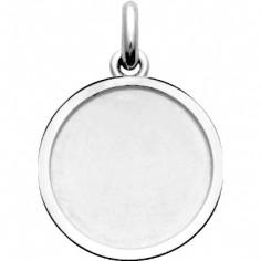 Médaille laïque cachet (or blanc 750°)