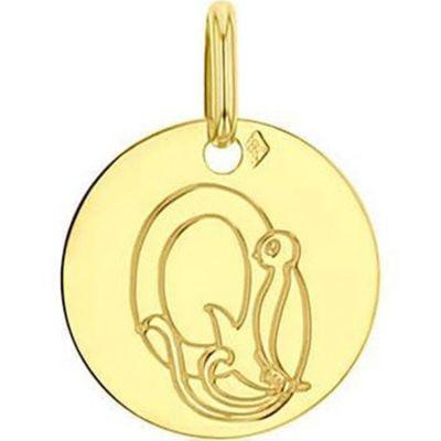 Médaille Q comme quetzal personnalisable (or jaune 750°)