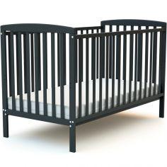 Lit à barreaux en bois de hêtre Confort gris (70 x 140 cm)