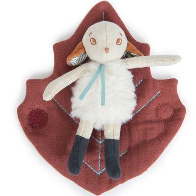 Mini peluche Châtaigne le petit mouton Après la pluie (16 cm)  par Moulin Roty