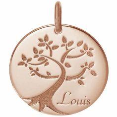 Médaille de naissance Louis personnalisable 18 mm (or rose 750°)
