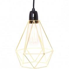 Lampe baladeuse Diamond 1 jaune doré et noir