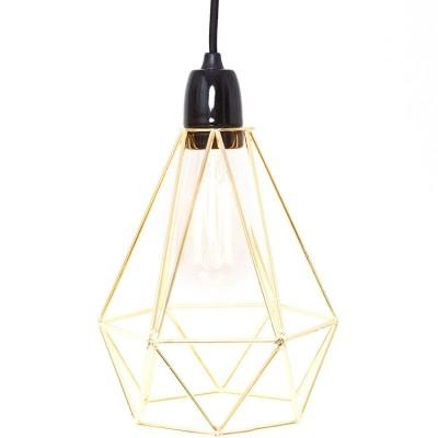 Lampe baladeuse Diamond 1 jaune doré et noir  par FilamentStyle