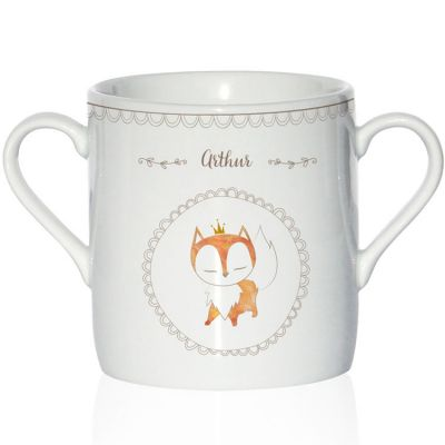 Tasse en porcelaine Renard (personnalisable)