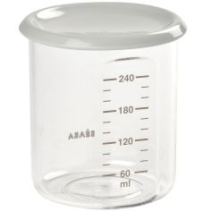 Pot de conservation en tritan Maxi portion gris (240 ml)