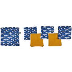 Lot de 5 lingettes lavables Origamignon (10 x 10 cm)