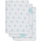 Lot de 3 gants de toilette hydrophiles Little star étoile turquoise - Jollein