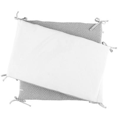 tour de lit gris clair tricoloudoux 180 x 35 cm noukie 39 s. Black Bedroom Furniture Sets. Home Design Ideas