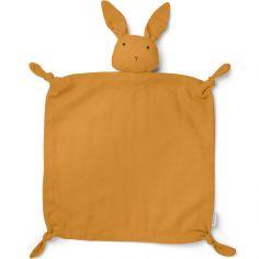 Doudou plat Agnete Rabbit mustard