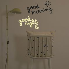 Stickers muraux phosphorescents Good morning, good night
