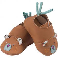 Chaussons en cuir ours Les jolis trop beaux (12-18 mois)