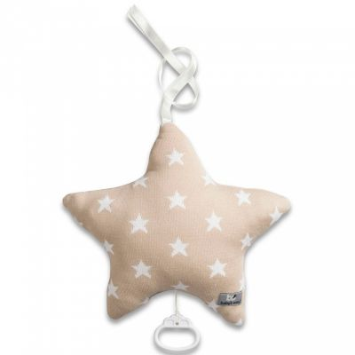 Coussin musical étoile Star beige et blanc (30 cm) Baby's Only