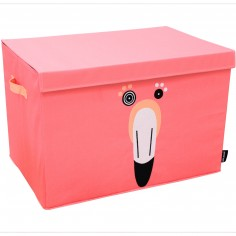 Coffre à jouet caisse de rangement Flamingos le flamant rose