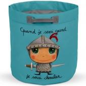 Sac à jouets Quand je serai grand je serai chevalier - Isabelle Kessedjian