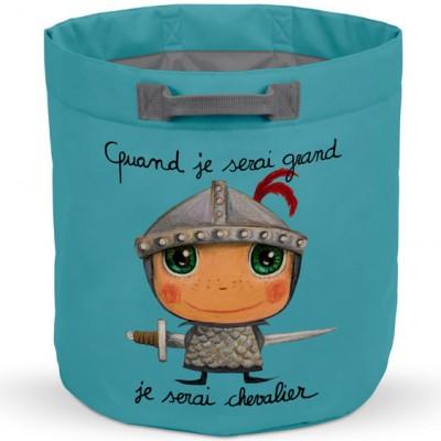 Sac à jouets Quand je serai grand je serai chevalier  par Isabelle Kessedjian