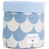Petite corbeille en tissu Mambo Ecaille bleu clair - Nobodinoz