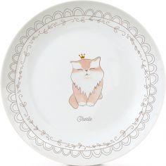 Assiette en porcelaine Chat (personnalisable)